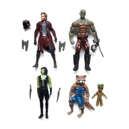 rocket baby toy Coupons - Guardians of the Galaxy 2 Action Figures dolls toy Kids Avengers Superhero Star-Lord Rocket Baby Groot PVC toys 5 style set B001