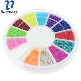 Wholesale Magic Candy - Wholesale-12 Colors Wheel Nail Art Tools Magic Candy Color Design Caviar Beads Manicure Microbeads Decorations ZP224