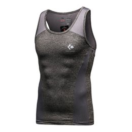 Wholesale Tight Fitting Shirts For Men - Wholesale- Men Super Techfit Cool Compression Tank Top Sleeveless Vest Top Quick Dry Fit Tight Shirt for Men