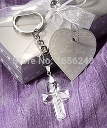 Wholesale Cross Favors Christening - Wholesale- Wedding Favors and Gifts Crystal Collection Cross Keychain Baby Christening Gifts Baby Shower Favors