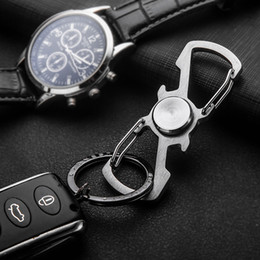 Wholesale Women Bottle Opener Keychain - Stainless Steel Fidget hand Spinner keychain key ring handspinner fidget spinner key chain key holder bottle opener chaveiro llaveros