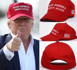Wholesale Wholesale Hats Usa - Make America Great Again Letter Hat Donald Trump Republican Snapback Sports Hats Baseball Caps USA Flag Mens Womens Fashion Cap R021