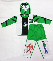 Wholesale Ben Costume - kid Cosplay Halloween Party costumes Ben 10: Race Against Time clothing,Hallowmas Boy Role-playing clothing,T-shirt size:S-XXL