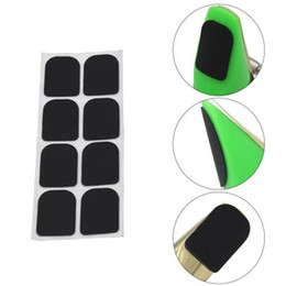 Wholesale Clarinet For Parts - Wholesale- New 8pcs 0.8mm Black Soprano Saxophone Sax Clarinet Mouthpiece Patches Pads Cushions Woodwind Instruments Parts & Accessorie
