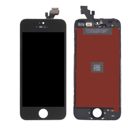 Wholesale Touch Display Iphone 5g - LCD for iPhone 5G 5S 5C Touch Screen Complete Display with Frame Digitizer Assembly Replacement Parts AAA Quality No Dead Pixels