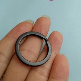 Wholesale Nickel Split Rings - 50pcs Wholesale Matt Black Metal Keyring Nickel Plated Split Key Rings Findings Round Keychain & Key Rings Fit Key Chain 30mm