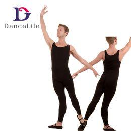 Wholesale Spandex Unitard Men - Free shipping A2625 Men Tank Dance Unitards fitness dance unitard mens