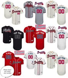 Wholesale Home Flex - Men's Atlanta Braves Home 2017 Flex base Custom Jerseys with Commemorative Patch Home Flex base Customized jerseys White Grey Red Navy Cream