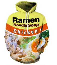 Nouveau Mode Couples Hommes Femmes Unisexe HD boeuf ramen / poulet nouilles Alimentaire 3D Imprimer Hoodies Pull Sweat Veste Pull Top S-5XL T52 ? partir de fabricateur