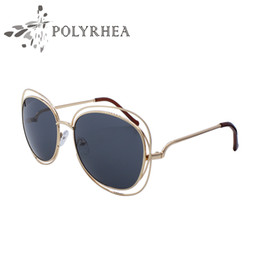 Wholesale Double Gradient Sunglasses - The New Hollow Large Double Circle Sunglasses High Quality Brand Designer Sunglasses Men Women Fashion Metal Frame Gradient Glasses
