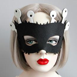 Wholesale Children Stage Shows - Black   Green   Yellow Children Felt Cloth Half Face Mask Masquerade Cosplay Face Mask Halloween Xmas Stage Show Masks for Adult Kids