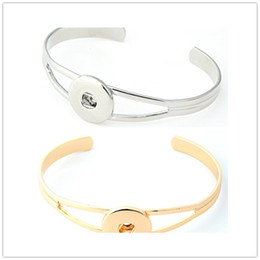 Wholesale fit jewelry design - Newest Design Ginger Snap Silver Gold Bracelet Snap Buttons NOOSA Chunks Bracelets For Women Fit 18mm Snap Charm Jewelry