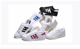 Wholesale Business Woman White - HOT! Men & Women Shoes Flat bottom plate 2017 direct selling business seven colors shoes casual couple shoes size 36-44