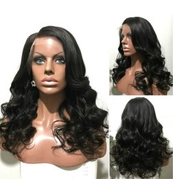 Wholesale Half Lace Wig Cheap - Free Part Brazilian Half Lace Front Wigs Short 14-26 150%-180% Cheap Remy Virgin Brazilian Human Hair Full Lace Wig