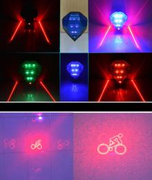 Argentina bicicleta láser de luz trasera 3 Laser 6 LED luz de la bicicleta Luz trasera de la bicicleta Lámpara de advertencia Luz de alarma Flash con batería de litio cargador supplier alarm warning lights Suministro