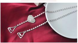 Sujetador de diamantes de imitación con correa online-envío gratis sujetadores de diamantes de imitación correas, correas invisibles del sujetador, sostenes sin tirantes del diamante negro del girasol, correas ajustables sujetadores transparentes correas