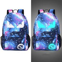 Wholesale Character Usb - 2017 Men's light Backpack Luminous Students School Bags External USB Charge women Laptop Backpacks Teenagers Casual Travel Mochila