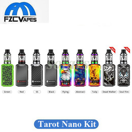Wholesale Mini Cigarette Starter Kit - Original Vaporesso Tarot Nano 80W Starter Kit 2ml 9 Colors Now Rainbow Dead Walker Soul Fire Mini E Cigarette Vape Kit 100% Original