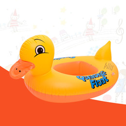 Wholesale Cute Toddler Toys - Wholesale Cute Yellow Duck Inflatable Ring Kids Baby Toddler Seat Float Bathing Animal Swimming Circle Swimming Pool Fun Toy Accessories