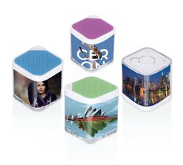 Wholesale Usb Camera Outdoor - Mini Player Smart Box Bluetooth Speakers With Remote Camera Shower Loud Outdoor phone Home Bluetooth Hands-free Calls Stereo Speakers Dice