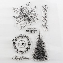 Wholesale Scrapbooking Card Making Supplies - Wholesale- CCINEE Promotions One Sheet Transparent Stamp Christmas Design DIY Scrapbooking Card Making Christmas Decoration Supplies