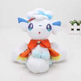 Wholesale snow white dolls wholesale - 8'' 20cm Cartoon Pocket Center Plush mascot Sapporo Snow Festival Alola Vulpix doll Plush Toy for Kids
