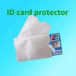 Wholesale Block Cards - Free Shipping 2000pcs Aluminum Anti RFID Blocking Sleeve Credit Card Holder Protect your money and ID