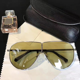 Wholesale Popular Coats - Linda Farrow Luxury Fashion Sunglasses With Coating Mirror Lens UV Protection Lens Popular Brand Designer Titanium Round Frame Top Quality