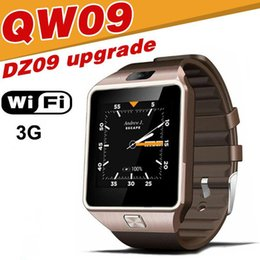 Wholesale Top 3g Android Phones - QW09 smart watch android 3G WIFI Smartwatch Upgrade DZ09 Top Quality Smart Phone With Camera Life Waterproof business birthday Gift