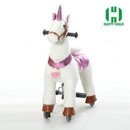 Wholesale riding horses toys - HI CE Outdoor playground toy horse on wheels , mechanical walking horse for Kid gifts  birthday gifts