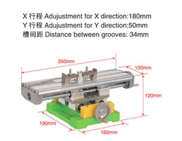 Wholesale Axis Milling Machine - Multifunction Milling Machine Table Drill Vise Fixture Worktable X Y-axis Adjustment Coordinate Table BG6350