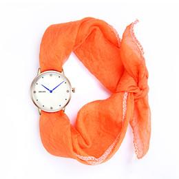 Wholesale Scarf Stoned - women watch scarf luxury casual leather quarta female watch 2017 new brand weijas new