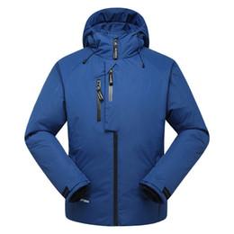 Wholesale Men Down Ski Jacket - Wholesale- Free Shipping Men's Snow Clothes White Duck Down Snowboard Jacket Men Skiing Ski Coat Thermal Skiing And Snowboarding Jacket
