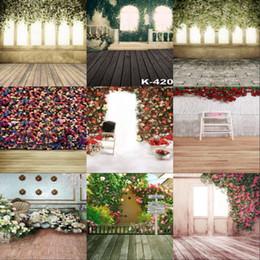 Wholesale Digital Photo Wall - wholesale custom 5x7FT blossoms wall shine tree vinyl backdrops camera studio for wedding photos digital photography background backdrop
