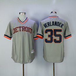 Wholesale Al Kaline Baseball - Men's Throwback Detroit 6 Al Kaline 3 Alan Trammell 23 Kirk Gibson 24 Miguel Cabrera 35 Justin Verlander 13 Lance Parrish Retro