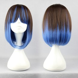 Wholesale Lolita Cosplay Free Shipping - MCOSER Free Shipping Fashion Master Cosplay 40cm Medium Colorful Straight Cute Lolita Wig