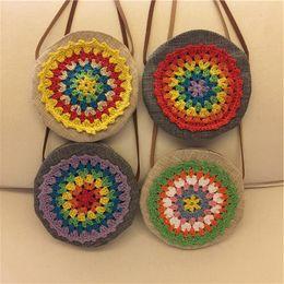 Wholesale Handmade Clothes Crochet Kids - 2017 Girl Princess National Style Handmade Crocheted Cross-body Bag Kids Matching Clothes Handbag Messenger Bags