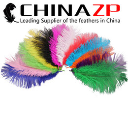 Wholesale ostrich feathers mixed colors - CHINAZP Crafts Factory Wholesale 35~40cm(14~16inch) Fantastic Mixed Colors Ostrich Feather Centerpiece for Wedding Party Table Decorations