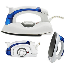 Wholesale Travel Iron Wholesale - 110-220V Home Traveling Mini Portable Foldable Electric Steam Iron for Clothes with 3 Gears Teflon Baseplate Handheld Flatiron