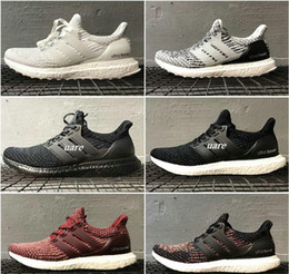 Wholesale Shoes Polka - 2017 Consortium Ultra Boost 3.0 UNCAGED Sneakers Men's and women's Casual Shoes Breathable Running Shoes size us 5-12