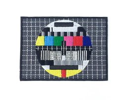 Wholesale Tv Sizes Cm - TV Color Test Pattern Patch - Iron On Embroidered Patch - Extra Large - Size 4.5 (11 cm) x 3.25 (8cm) Free Shipping