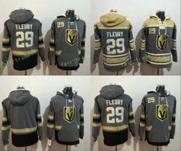 Wholesale Hockey Sweaters - Cheap Hockey Hoodie Vegas Golden Knights #29 Marc-Andre Fleury Hoodie High Quality Stiched Sweater Jersey Free Shipping