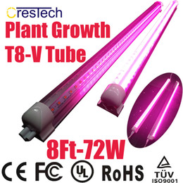 Wholesale Red Box Tube - Free shipping 25pcs led grow light 4ft 6ft 8ft T8 Integrated Led Tube Grow Lights SMD2835 18W 36W 72W Hydroponic Grow Box