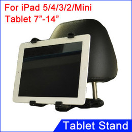 """Wholesale Dvd Car Holder - Wholesale-Car Seat Headrest Mount Holder For iPad Air 2  3 4  Mini Retina For Tablet 7"""" - 14"""" Car Bracket For GPS   DVD   MID Stand Mount"""
