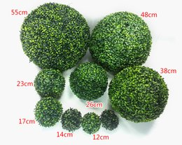 Wholesale wholesale kissing balls new - New Artificial Plastic Milan Grass Plant Kissing Ball Hanging Craft Ornament For Home Garden Wedding Centerpiece Decoration Supplies