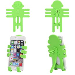 Wholesale Charms For Iphone - 2017 Monkey Car Cell Phone Holder Style Air Vent Car Mount Silicone Variety Holder for Phone Lovely charm cell phone holder