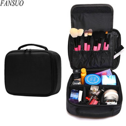 Wholesale Bag Cosmetic Beauty Case Waterproof - Wholesale- Hot Sell Women Beauty Professional Cosmetic Case Travel Waterproof Portable Large Necessity Storage Makeup Brush Organizer Bag
