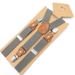 Wholesale Elastic Straps Braces Suspenders - Wholesale- 2017 new Kids Suspenders Leather Baby Braces Strong 3Clips Trousers Fashion Suspensorio Elastic Strap size 2.5*65cm