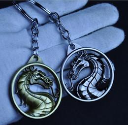 10 / pcs / lot Dragon Hot Game Mortal Kombat llavero puede envío de Metal llaveros para el regalo Chaveiro llavero joyería para coches desde fabricantes