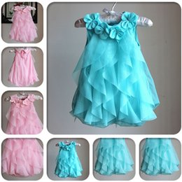Wholesale Girls Terry Shorts - Summer Infant Party Dresses Toddler Baby Romper Dress Full one-pieces Girls Princess Birthday Dresses Jumpsuits LC456